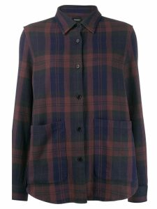Aspesi plaid print shirt - Blue