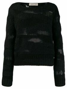 Lamberto Losani long-sleeve fitted sweater - Black