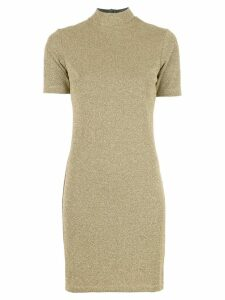 Nomia roll neck dress - GOLD