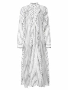 Y/Project striped shirt dress - White