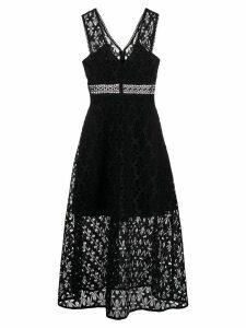 Sandro Paris floral lace dress - Black