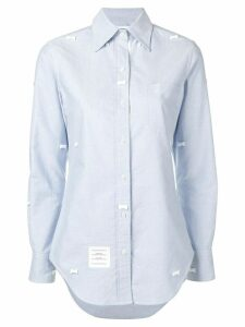 Thom Browne Bow Embroidery Point Collar Shirt - Blue