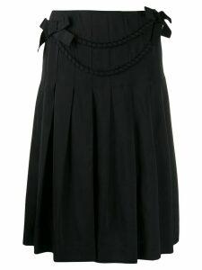 Boutique Moschino satin bow skirt - Black