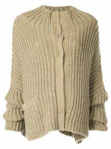 Forme D'expression Fisherman's ribbed cardigan - Yellow