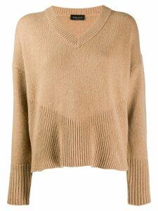 Roberto Collina knitted V-neck jumper - Neutrals