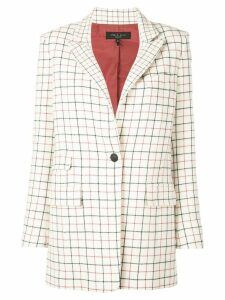 Rag & Bone relaxed-fit check blazer - White