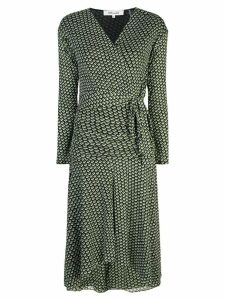 Diane von Furstenberg geometric patterned wrap dress - Green
