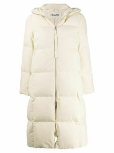 Jil Sander oversized padded coat - Neutrals