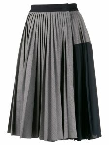 Sportmax check print pleated skirt - Grey