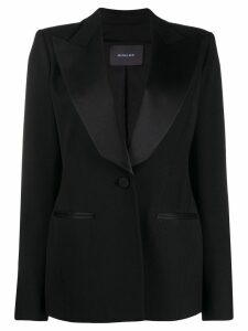 Mugler satin blazer - Black