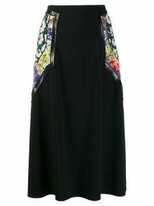 Stella McCartney floral panel midi skirt - Black