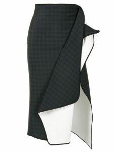 Maticevski ruffle detail midi skirt - Black