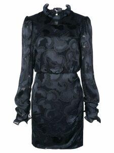 Saloni Rina jacquard crepe dress - Black