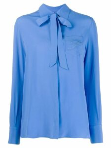 Fay tie neck blouse - Blue