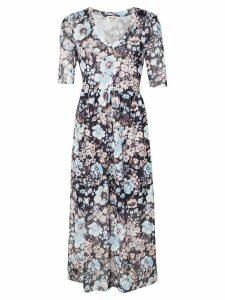 Baum Und Pferdgarten 3/4 sleeve floral dress - Blue