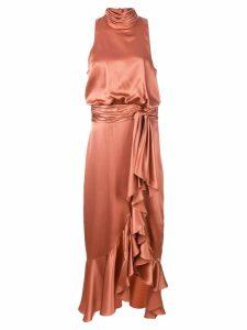 Cinq A Sept Winona ruffled dress - Red