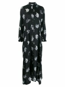 LANVIN logo print shirt dress - Black