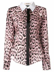 Roberto Cavalli leopard print shirt - Pink
