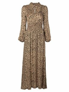 Baum Und Pferdgarten leopard print flared dress - Brown