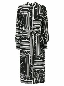 Co mixed print shirt dress - Black