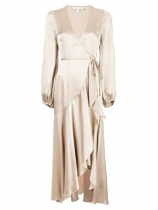 Shona Joy frill wrap dress - Gold