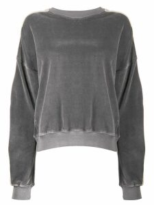 Haider Ackermann side-stripe sweater - Grey
