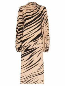 Beaufille Bardot striped midi dress - Multicolour