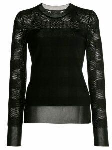 Rag & Bone knit check sweater - Black