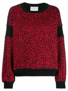 Philosophy Di Lorenzo Serafini leopard print sweater - Red