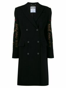 Moschino Mythological Creatures embroidery coat - Black