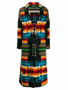 Jessie Western Rainbow long coat - Black