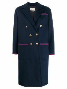 Gucci button-front coat - Blue