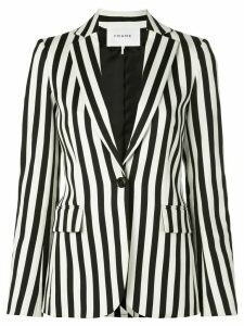 FRAME striped slim-fit blazer - Black
