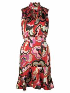 Saloni Daybreak mini dress - Red