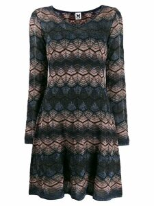 M Missoni v-neck lurex dress - Black
