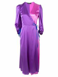 Anna October colour-block wrap dress - PINK