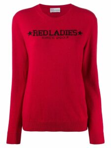 Red Valentino intarsia knitted jumper