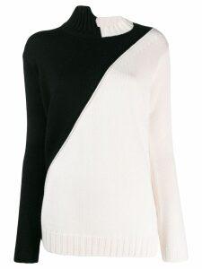 Pierantoniogaspari colour contrast sweater - White