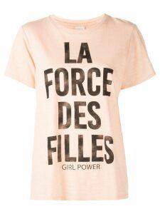Cinq A Sept Girl Power T-shirt - Pink
