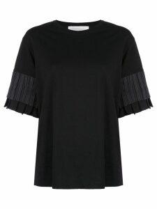 Victoria Victoria Beckham tiered sleeve T-shirt - Black