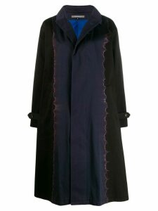 Suzusan contrast flared trench coat - Blue