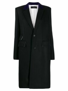 Haider Ackermann flap pockets single-breasted coat - Black