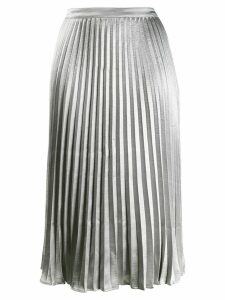 DKNY pleated midi skirt - Silver