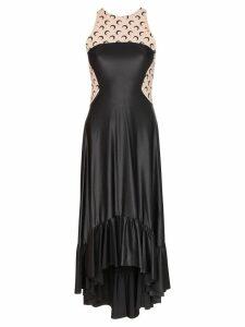 Marine Serre moon print open-back dress - Black