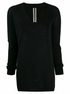 Rick Owens V-neck knitted sweater - Black