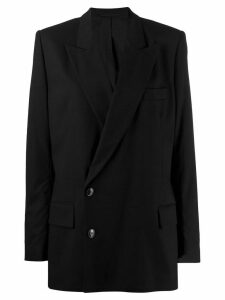 A.F.Vandevorst off-centre button blazer - Black