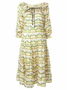 Shrimps Sandrine frilled-neck dress - Neutrals