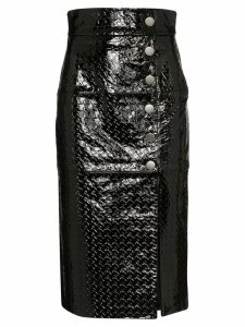 Skiim Lucy embossed pencil skirt - Black