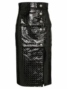 Skiim Lucy embossed pencil skirt - Black