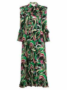 La Doublej Long Fancy dress - Green